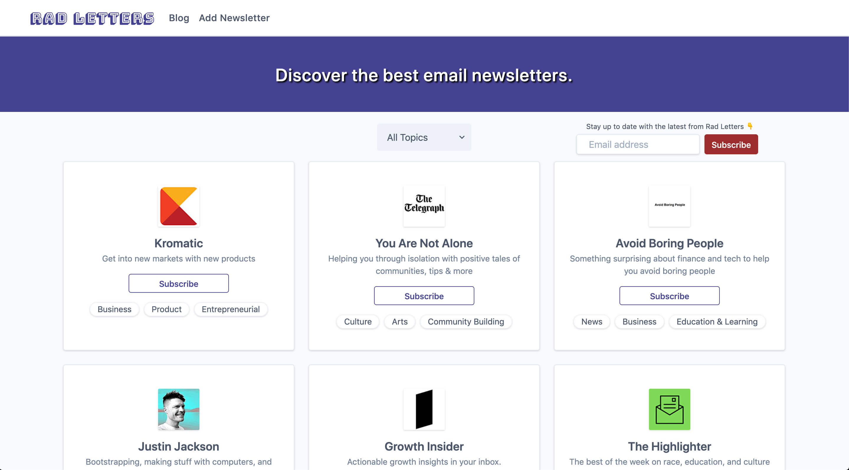 Newsletter Directory