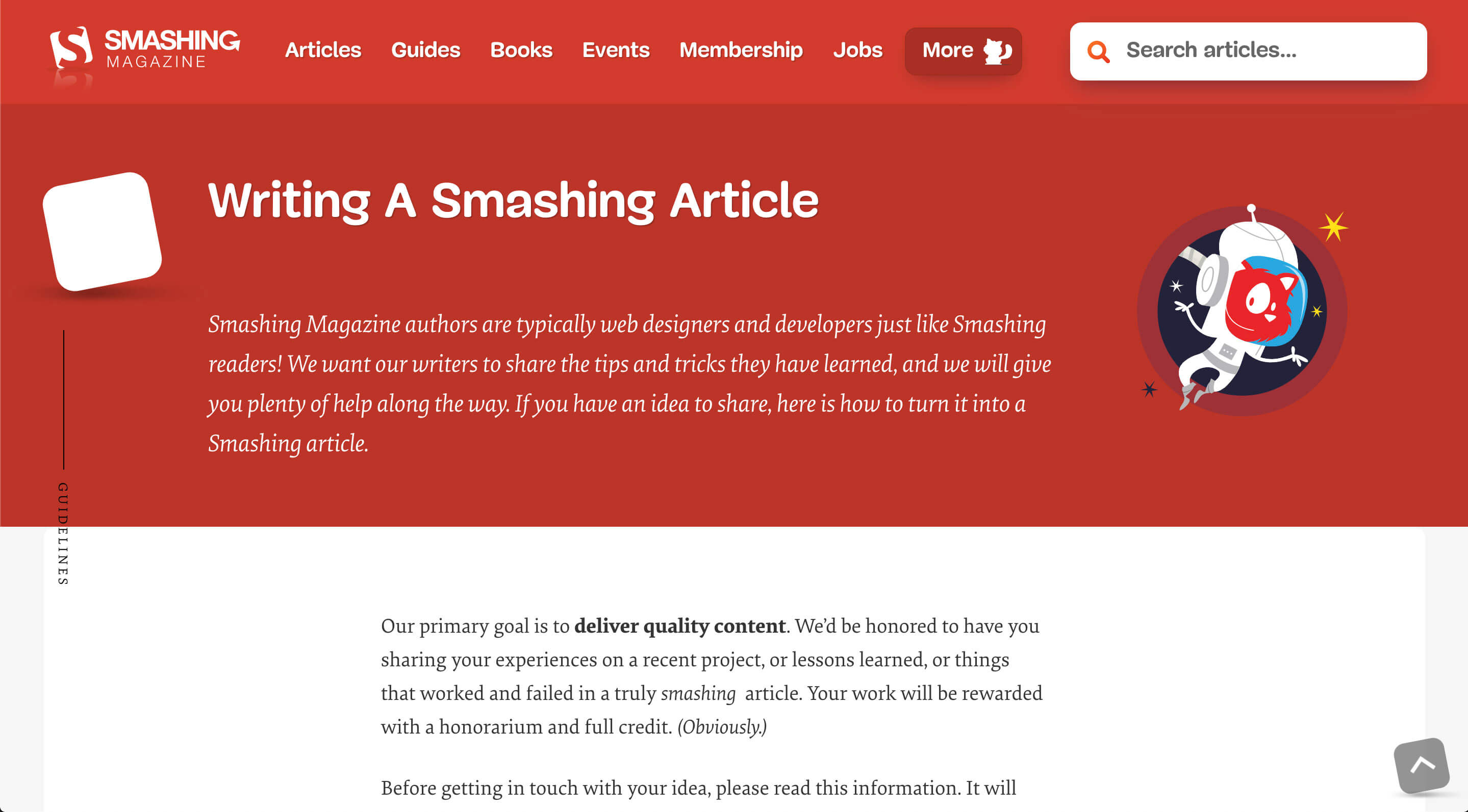 Guest post for smashing magazine