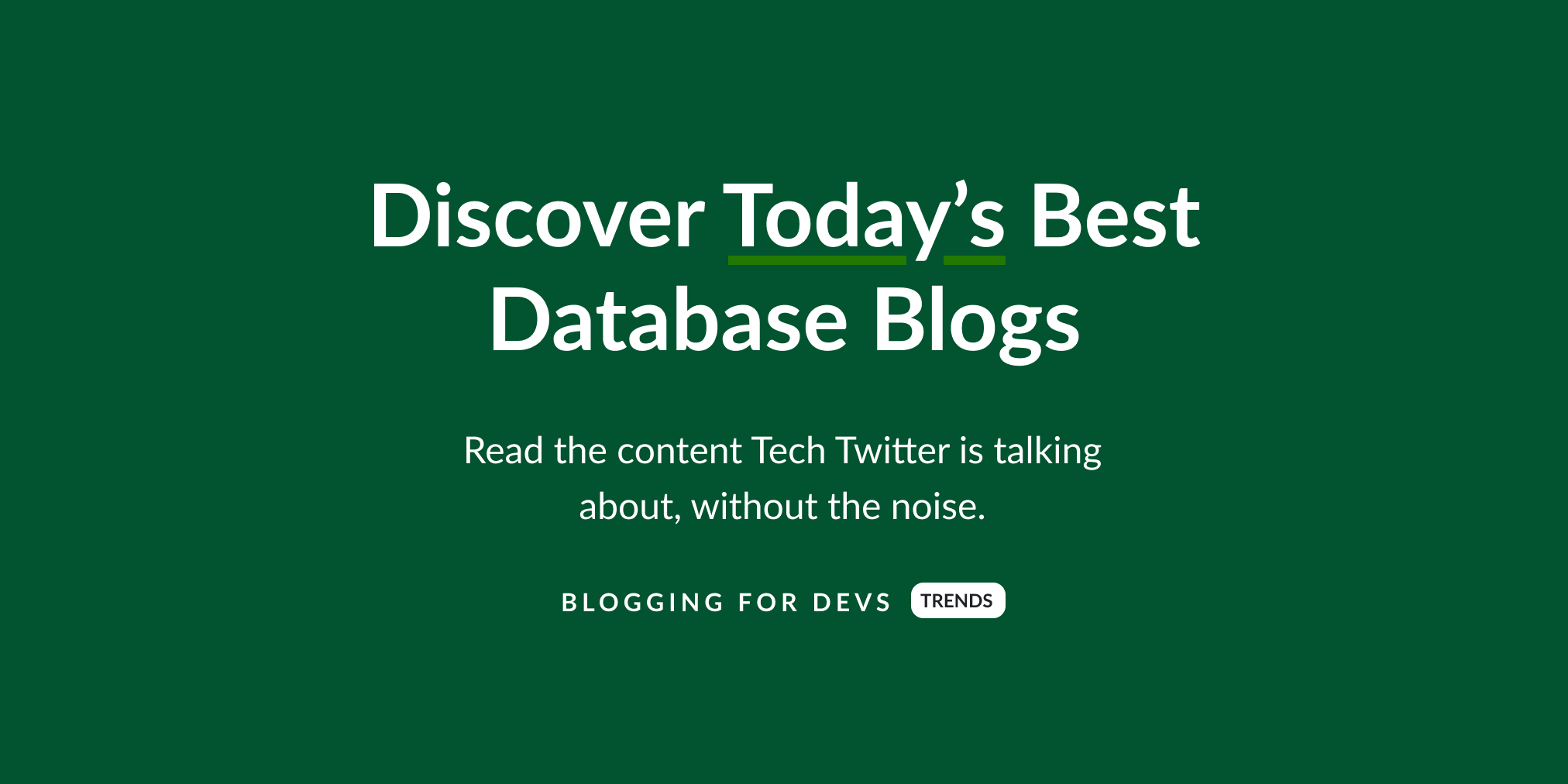 Best Database blogs